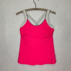 Patagonia twist back tank with built in bra